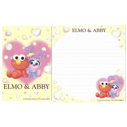 Ano 2009. Kit 4 Conjuntos de Papel de Carta ELMO & ABBY