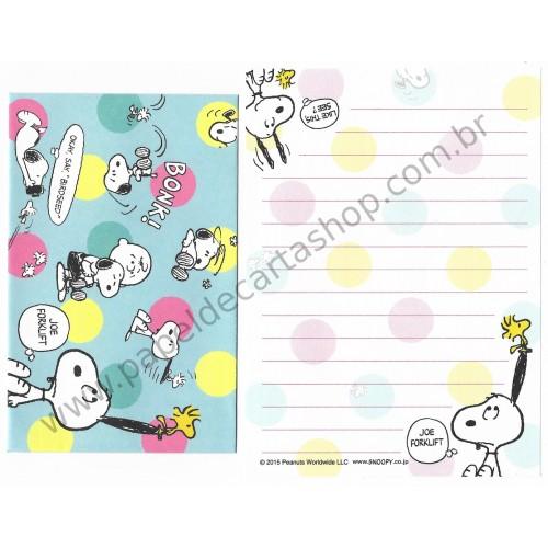 Conjunto de Mini-Papel de Carta SNOOPY BONK1 Peanuts