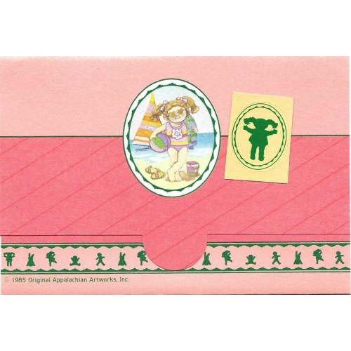 Ano 1985. Postalette Antigo Importado Cabbage Patch Kids (CLA)