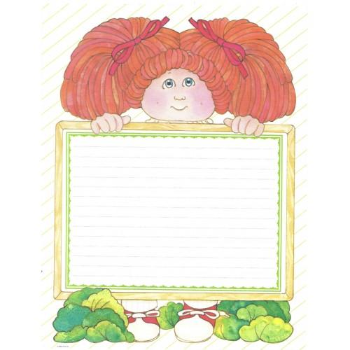 Ano 1984. Conjunto de Papel de Carta BIG Importado Cabbage Patch Kids1