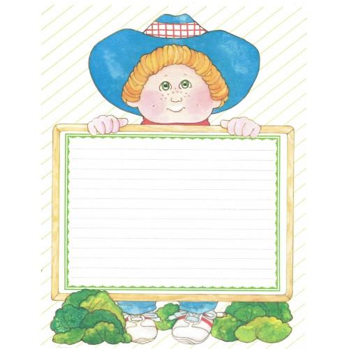 Ano 1984. Conjunto de Papel de Carta BIG Importado Cabbage Patch Kids2