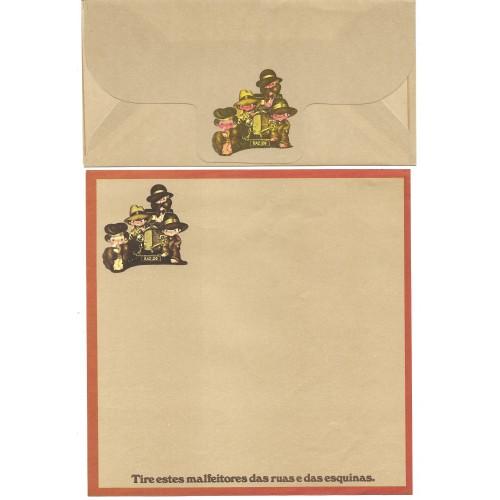 Conjunto de Papel de Carta Coleção Os Intocáveis Bandidinho CMR
