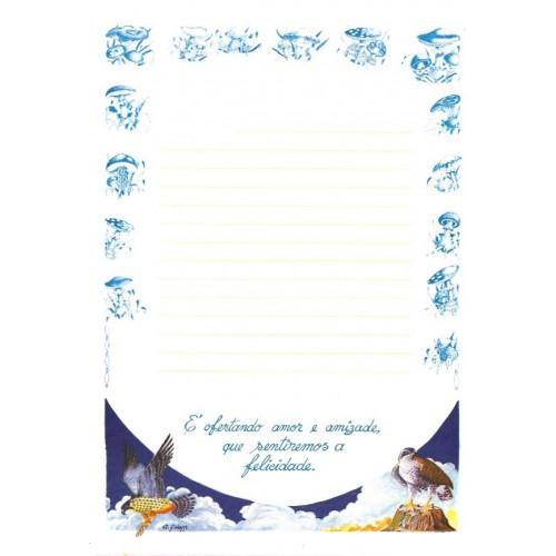 Papel de Carta ANTIGO Altair Gelatti Borda Cogumelos 01