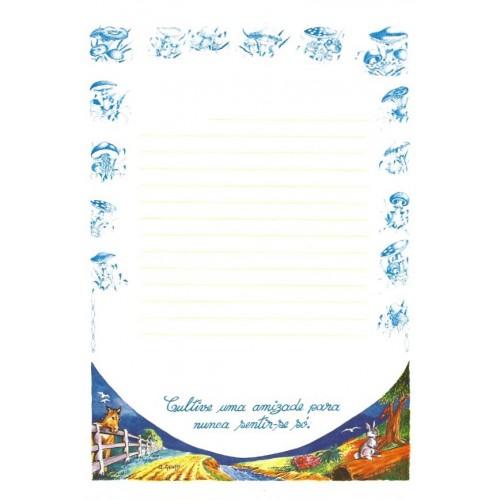 Papel de Carta ANTIGO Altair Gelatti Borda Cogumelos 04
