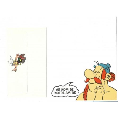 Conjunto de Papel de Carta ANTIGO Asterix & Obelix Notre Amitié