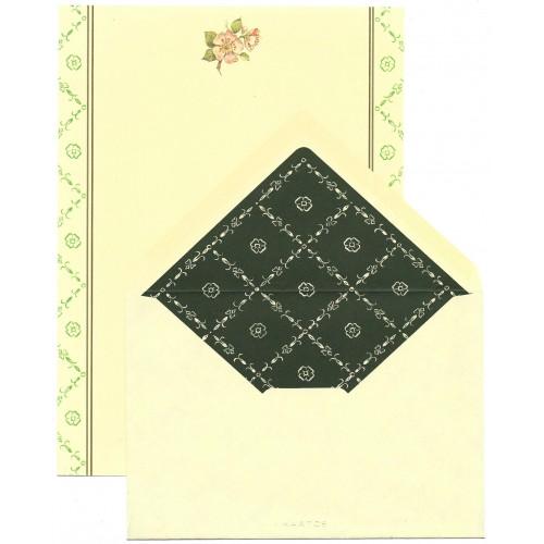 Conjunto de Papel de Carta Antigo Coleção Kartos - Flores 2