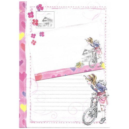 Conjunto de Papel de Carta Shinn Jee Menininha PB180166-4