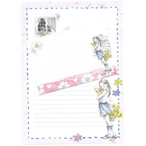 Conjunto de Papel de Carta Shinn Jee Menininha PB180166-7