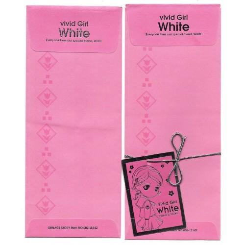 Kit Envelopes Importado Vivid Girl White Orange Story