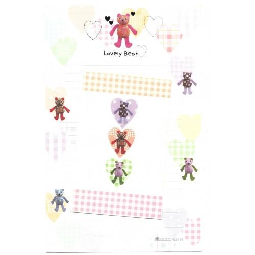 Conjunto de Papel de Carta Importado Lovely Bear - NL