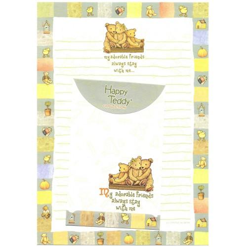 Conjunto de Papel de Carta Importado Happy Teddy CQD Ido