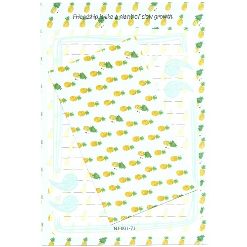 Conjunto de Papel de Carta Importado Pineapple - Ninge China