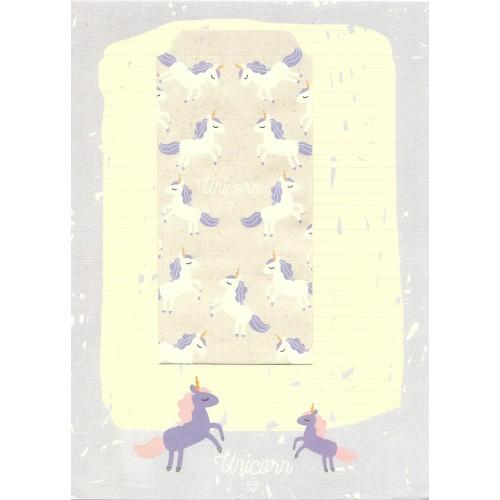 Conjunto de Papel de Carta Importado Unicorn 2