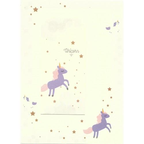 Conjunto de Papel de Carta Importado Unicorn 4