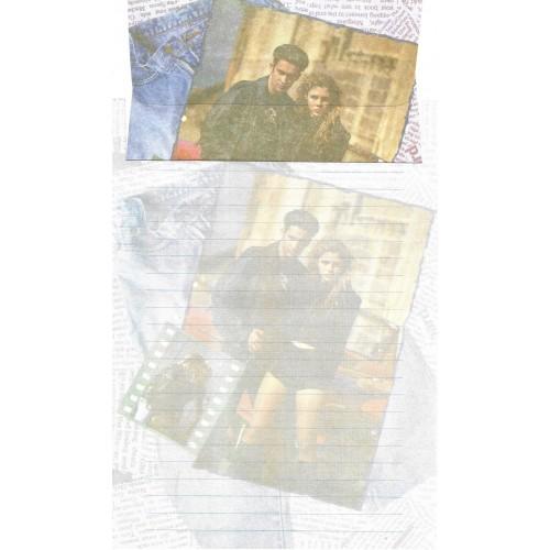 Capa & Conjunto de Papel de Carta Antigo Importado DASEN 3034A