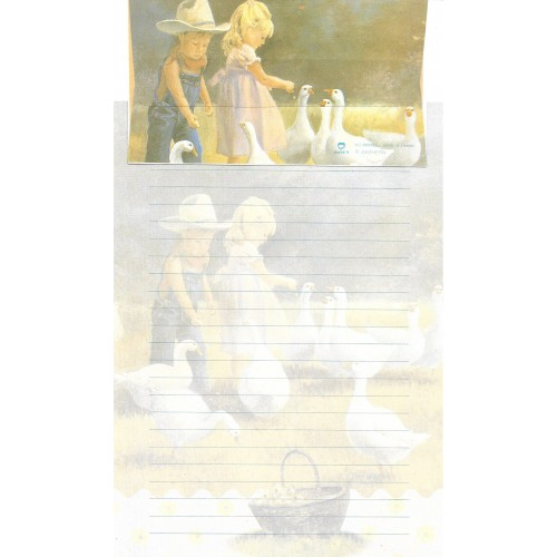 Conjunto de Papel de Carta Antigo Importado DASEN 3026C