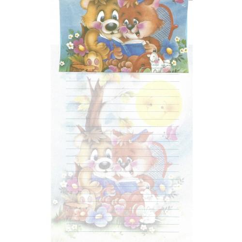 Capa & Conjunto de Papel de Carta Antigo Importado DASEN 3030B