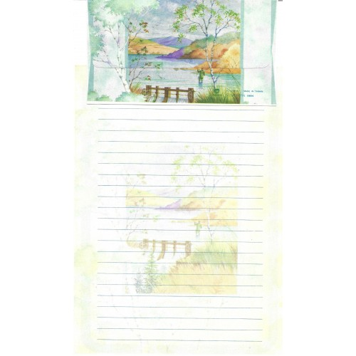 Conjunto de Papel de Carta Antigo Importado DASEN 1791A