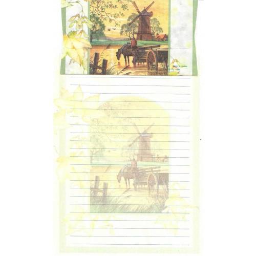 Conjunto de Papel de Carta Antigo Importado DASEN 1791B
