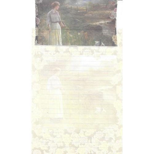 Conjunto de Papel de Carta Antigo Importado DASEN 3007C