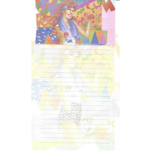 Conjunto de Papel de Carta Antigo Importado DASEN 1784C