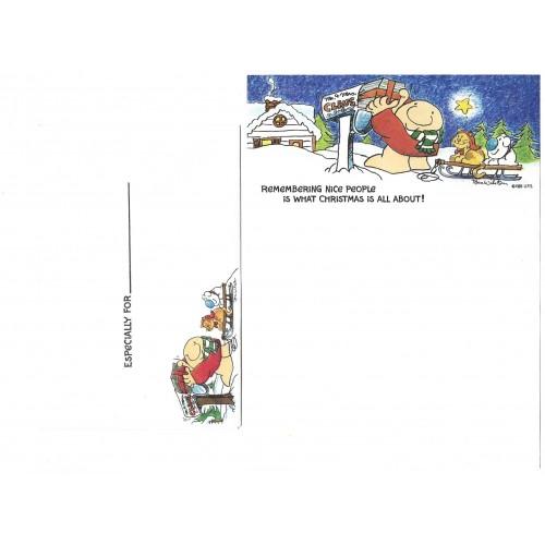 Conjunto de Papel de Carta Antigo Importado Ziggy Santa Claus