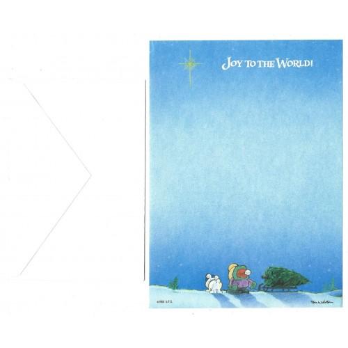 Conjunto de Papel de Carta Antigo Importado Ziggy JOY to the World