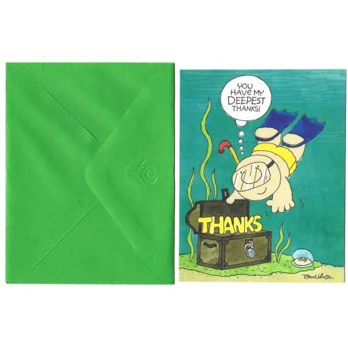 Notecard Cartão ANTIGO Importado Ziggy Thanks