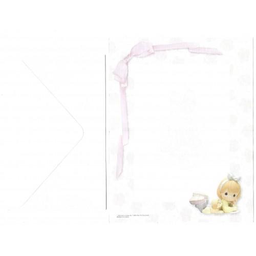 Conjunto de Papel de Carta IMPORTADO Precious Moments Enesco
