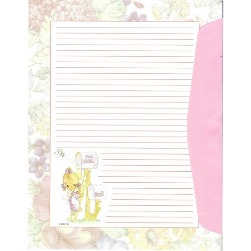 Conjunto de Papel de Carta IMPORTADO A4 Precious Moments Rose