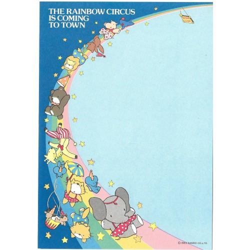 Ano 1983. Papel de Carta Antigo AVULSO The Rainbow Circus AZ (Vintage) Sanrio