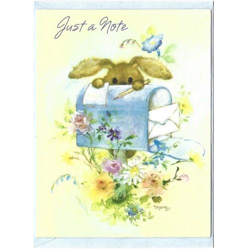 Notecard Antigo Importado Mary Hamilton RABBIT 01 - Hallmark