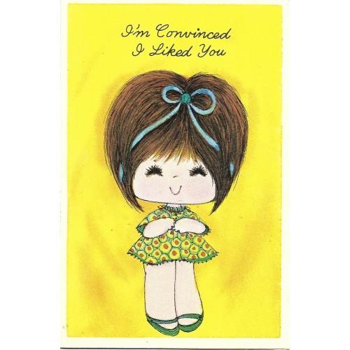 Ano 1970. Notecard Cartão Importado Sweet Notes 6 Paula Presents