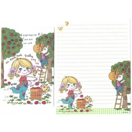 Conjunto de Papel de Carta com envelope ADO MIZUMORI 0060