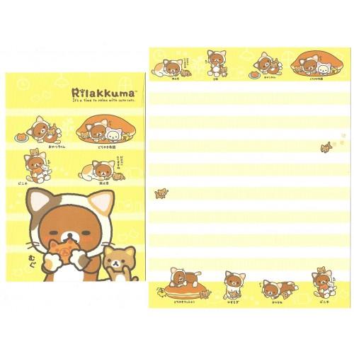 Kit 4 Conjuntos de Papel de Carta Rilakkuma & Cute Cats - San-X