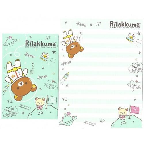 Kit 4 Conjuntos de Papel de Carta Rilakkuma Cosmic - San-X