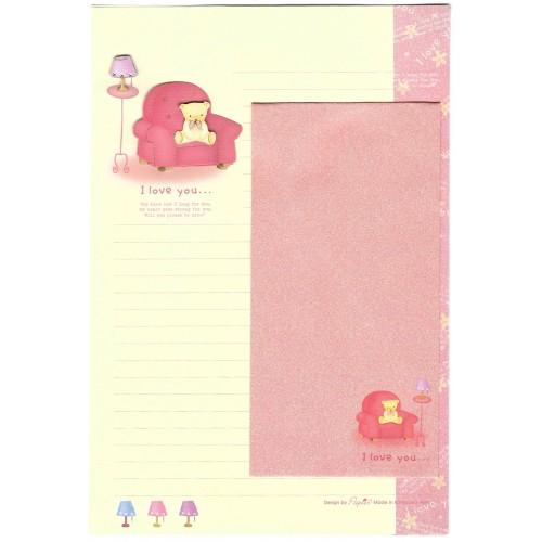 Conjunto de Papel de Carta Importado I Love You - Papier
