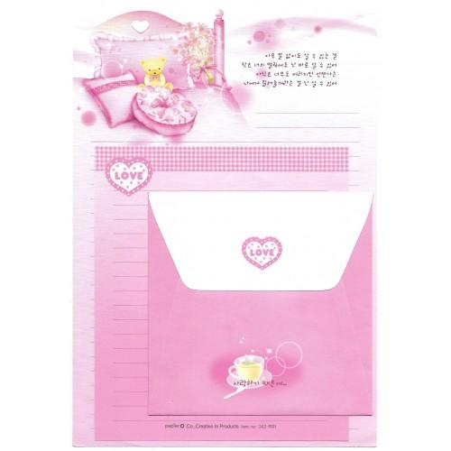 Conjunto de Papel de Carta Importado Love Bear - Papier