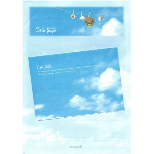 Conjunto de Papel de Carta Importado Cafe Pupu Doll Series AZ Barunson