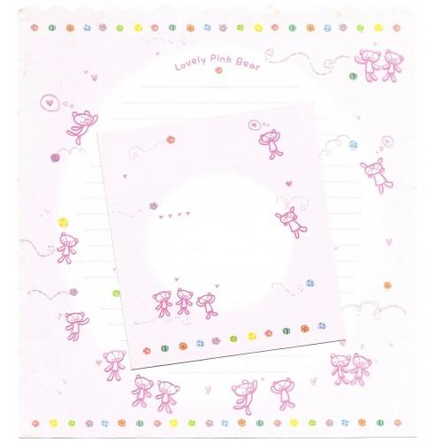 Conjunto de Papel de Carta Importado Lovely Pink Bear