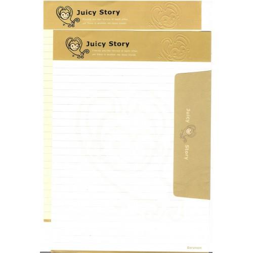 Conjunto de Papel de Carta Importado Juicy Story Monkey Barunson