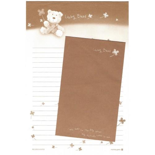 Conjunto de Papel de Carta Importado Lucky Bear CMA - Morning Glory