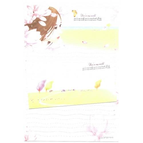 Conjunto de Papel de Carta Importado My World - BS