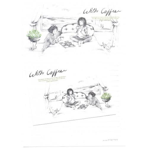 Conjunto de Papel de Carta Importado With Coffee - BS