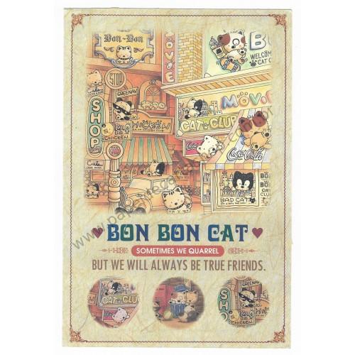 Papel de Carta AVULSO Antigo Vintage Bon Bon Cat Sometimes We Quarrel