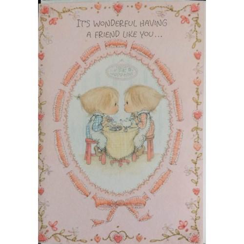 Ano 1973. Cartão ANTIGO Importado Betsey Clark Happy Home