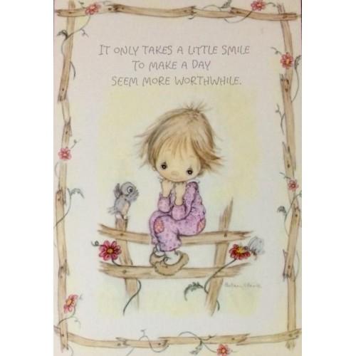 Cartão Postal ANTIGO Betsey Clark - G89