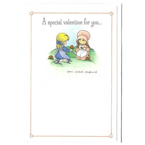 Ano 1989. Notecard Special Valentine Joan Walsh Anglund Hmk