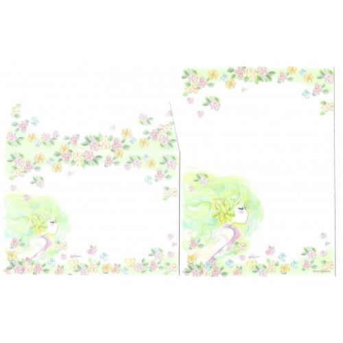 Conjunto de Mini-Papel de Carta com envelope ADO MIZUMORI 0078