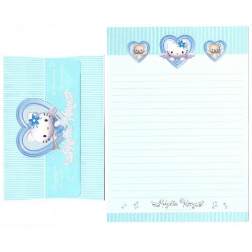 Ano 2001 Conjunto de Papel de Carta Hello Kitty Angel Heart CAZ Sanrio